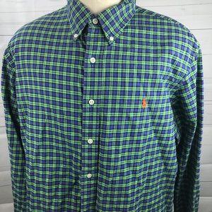 Ralph Lauren Flannel Light Weight Shirt XXL Blue